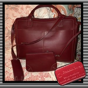 Franklin Covey Leather Briefcase LIKE NEW